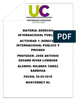 Derecho Internacional Publicio y Privado