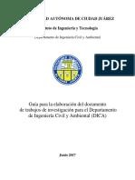 Manual Para El Desarrollo Del Documento de Proyecto de Titulación DICA