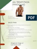 Manual Terapi Lumbar Spine,