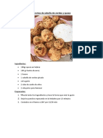 Pancitos de Cebolla de Verdeo y Queso Gluten Free