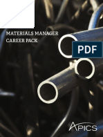 Materials Manager Career Pack