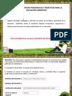Estrategias Pedagógicas y Didácticas Para La Educación Ambiental.