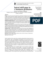 Non-technical skill gaps in ustralian business graduates