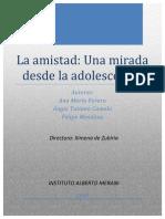Amistad Adolecencia Tesis 2015
