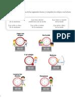 La Hora Segundo Ciclo Primaria Recursosep Analógico Digital 2