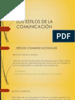 Los Estilos de La Comunicación