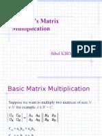 Strassen's Matrix Multiplication