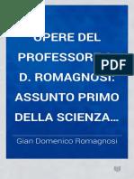 Assunto primo della scienza del diritto naturale di G. D. Romagnosi