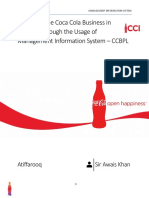 Enhanced the Coca Cola Business in Pakistan Through the Usage of Management Information System – CCBPL