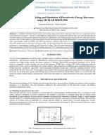 Electromechanical Modeling and Simulation of Piezoelectric Energy Harvester Using MATLAB SIMULINK-IJAERDVO5IO327564