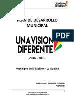 3020 23 Plan de Desarrollo Municipal Una Vision Diferente 2016 2019