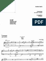 BERIO 6 Encores Pour Piano