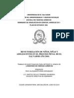 Revictimizaci%c3%93n de Ni%c3%91os%2c Ni%c3%91as y Adolescentes en El Proceso Penal de El Salvador a%c3%91o 2010
