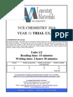 [VCE Chemistry] 2016 Lisachem Unit 2 Exam and Solutions