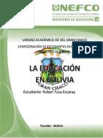 Educacion en Bolivia