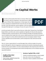 How Venture Capital Works