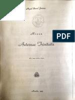 Missa Eternae Trinitatis . MIGUEL BERNAL JIMENEZ