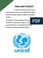 Cómo Trabaja Unicef en México