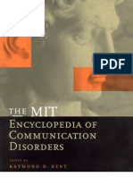 Encyclopedia of Communication Disorders
