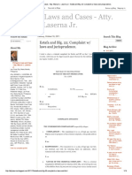 Sample Complaint - Estafa and B.P. 22 2012