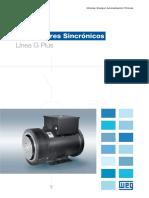 WEG Generador Sincronico Linea g Plus 654 Catalogo Espanol
