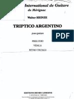 W. Heinze Tríptico Argentino