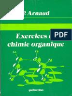 Arnaud, Paul - Exercices de Chimie Organique-Gauthier-Villars (1987)