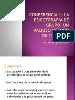 Conferencia 1 -Terapia de Grupo