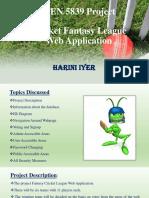 Cricket Fantasy League Presentation