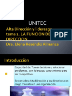 1.- Alta Direccion y Liderazgo