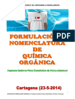 Formulación y Nomenclatura de Química Orgánica 23-5-14