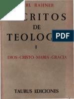 Rahner, Karl - Escritos de teología 01