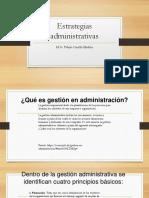 Clase 7 Estrategias Administrativas