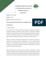 Ensayo sobre la Organización Mundial de Turismo (OMT)
