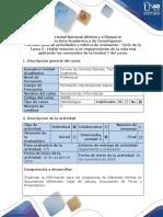 Guía de Actividades y Rúbrica de Evaluación Ciclo de La Tarea 2