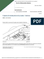 Engrase en cojinetes de inclinación de Ruedas - Motoniveladora 16H