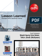 Lesson Learned Penerapan QHSE Gedung 2018