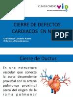 Cierre de Defectos Cardiacos en Ninos