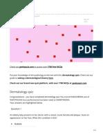 Geekymedics.com Dermatology Quiz