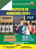 Admision 20191 - Prospecto