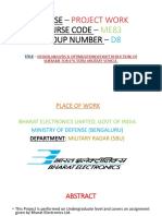 PPT on Final year project at Bharat electronics limited