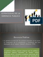 Estrategias de La Gerencia Publica