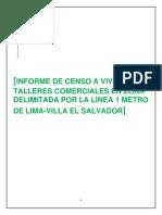 01. Informe de Censo a Viviendas y Talleres Comerciales en La Zona Delimitada Por La Linea 1 Metro de Lima- Villa El Salvador