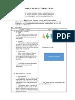 Lesson Plan in Mathematics 4