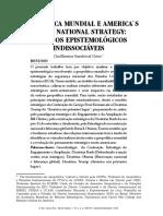 GEOPOLÍTICA MUNDIAL E AMERICA`S GRAND NATIONAL STRATEGY