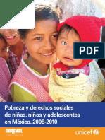 Pobreza y derechos sociales de niñas, niños y adolescentes, 2008-2010