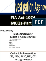 FIA Act MCQs-Prepared by Muhammad Zafar -Www.harwordAcademy.com-03335706226