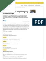 VI Semana de la Arqueologia y Paleontologia