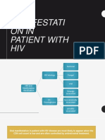 oral manifestation in HIV patients