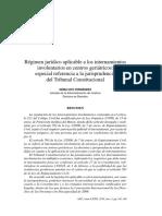 Régimen Jurídico Aplicable a Los Internamientos